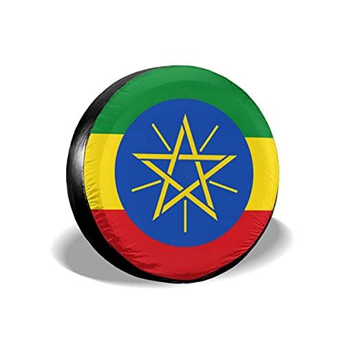 595 Cubierta para Rueda De Repuesto Bandera De Etiopia Funda para Rueda De Repuesto Universal Bolsas De Almacenamiento para Ruedas Prueba De Polvo Cubiertas De Las Ruedas Vehicles Accessories S