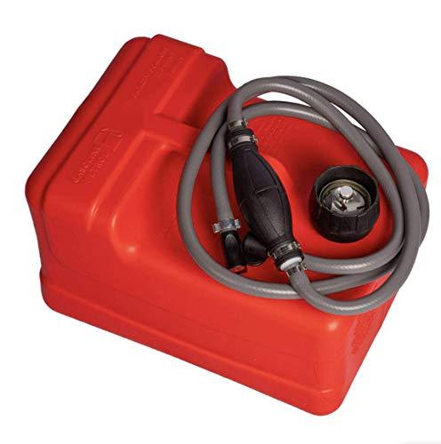 HIBO 12 Liter Benzintank Für Außenborder   Komplett Mit Benzinschlauch Pumpball   Mit Tankanzeige Und Anschluss Für Yamaha