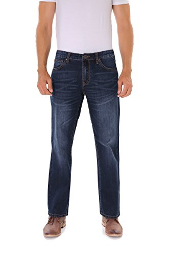 Indigo alpha Mens Stretch Jeans Straight Fit,Comfortable Lightweight Jeans for Men,Classic Blue Jeans Stretch Denim Mens Jeans