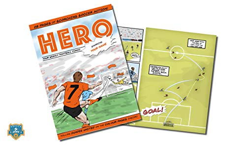 Dundee United FC Premium Personalised Football Comic Book by Soccer Star Idea for Football Fans of All Ages - Birthday, Christmas, Father's Day Present