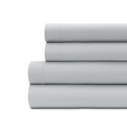 Briarwood Home King Size Jersey Knit Sheet Set - 4 Pc Super Soft 100% Cotton Breathable Bed Sheets – Deep Pocket, Easy Fit – Comfortable, Cozy T-shirt Soft – All Season Luxury Bedding set (King, Grey)