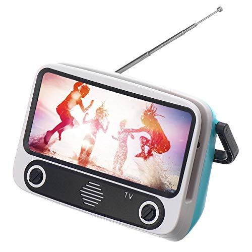 L-sister Diseño de TV Retro Mini Bluetooth Nuevo Modelo (Color : Brown)