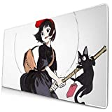 Ye Hua Extra Large Mouse Pad -Kiki's Delivery Service Art Desk Mousepad - 15.8x29.5in (3mm Thick)- XL Protective Keyboard Desk Mouse Mat for Computer/Laptop