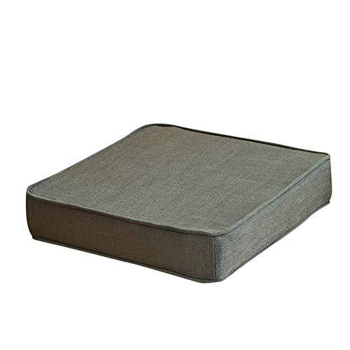 Cojín de asiento con espesas, esponja de espesor, espesor de silla de espesor, muebles de patio, almohadillas de asiento de suelo, comida para exteriores, almohadillas de silla al aire libre, gris osc