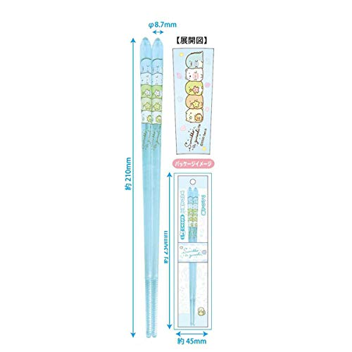 すみっコぐらし アクリル箸 【ブルー】 ケイカンパニー CAH2-SG-BL