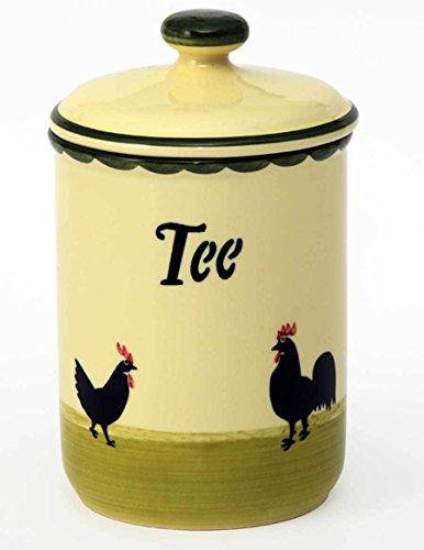 Zeller Keramik Hahn und Henne Vorratsdose Tee 1,00 Liter