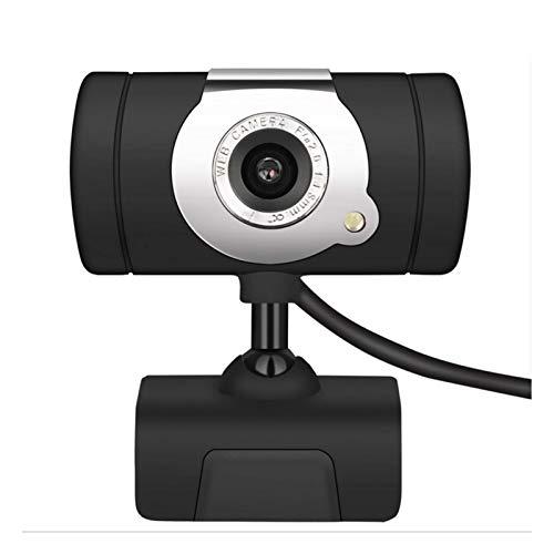 QWERTYUKJ Cámara Web HD USB HD PC Cámara Web con micrófono Cámaras giratorias para transmisión en Vivo Videollamadas Trabajo en conferencias