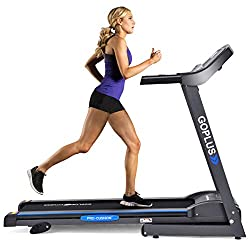 small GOPLUS 2.2HP Folding Treadmill Electric Support Electric Power Running Fitness Incline Running…