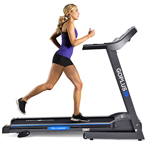 Goplus 2.2HP Folding Treadmill Electric Support Motorized Power Running Fitness Jogging Incline Machine g Fitness Jogging Incline Machine Fitness Jogging Incline Machine