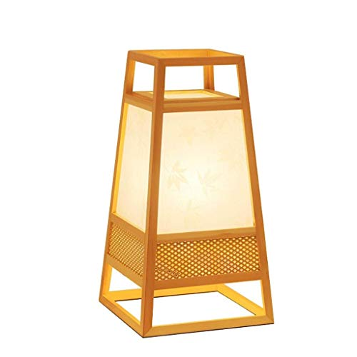 CLJ-LJ Lámpara de pie LED para iluminación interior, lámpara de lectura japonesa, lámpara de pie de madera, salón espía soporte dormitorio, lámpara de suelo de dormitorio
