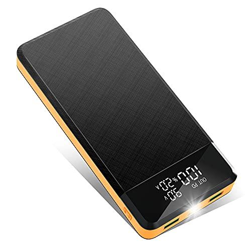 Power Bank 26800 mAh Rápido Cargador Portátil 18 W PD USB-C 3 A BateriaExterna Móvil Gran Capacidad Con Pantalla LED 3 Entradas y 3 Salidas de Alta Velocidad Con Linterna Power Bank Compatible
