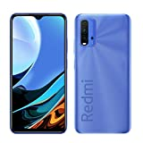 Xiaomi Redmi 9T Smartphone 6GB 128GB 48MP AI Quad Cámara 6000 mAh (typ) 18W Carga rapida 6.53' FHD+ Dot Drop Display Sensor de Huella Digital Lateral NFC Azul [Versión Global]