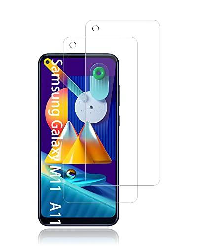 UNO' Protector pantalla cristal templado 2 Unidades compatible con Samsung Galaxy A11, Samsung Galaxy M11, Vidrio Templado Ultra Resistent Sin Burbujas, 9H, Antiarañazos.