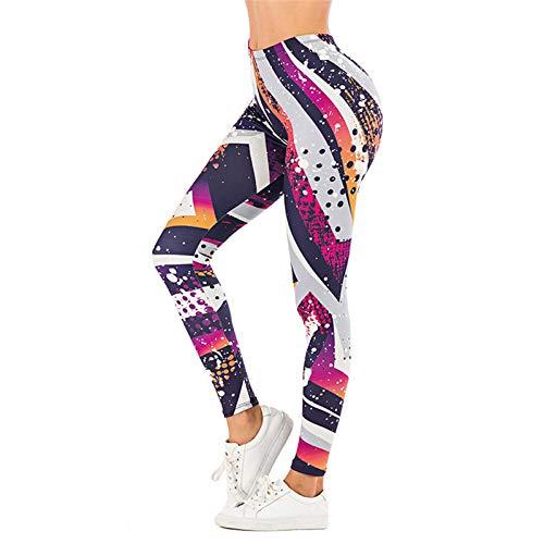 LMDGO Tik Tok Leggings Yoga-Hose für Frauen Hohe Taille Sporthose Enge Strethcy Printing Leggings Running Fitness Pant