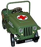 Juguete Infantil Decorativo de Metal Jeep Cruz ROJA Verde. Coches...