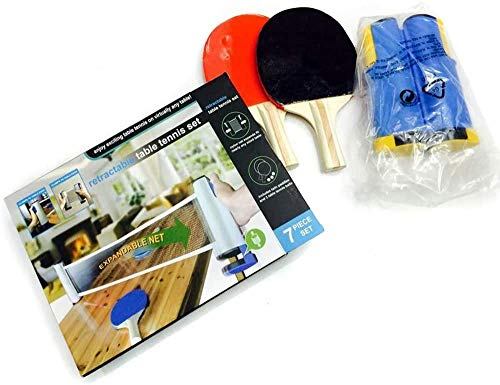 Fantastic Prices! HEXL Table Tennis Set, Portable Table Tennis Set,2 Table Tennis Bats,3 Balls,1 Blu...