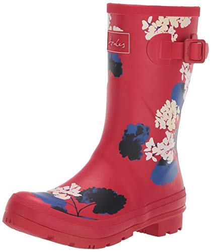 Joules Women's Molly Rain Boot, Redlilyflr, 9 M US