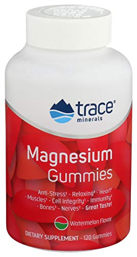 Trace Minerals, Magnesium Gummies Watermelon, 120 Count