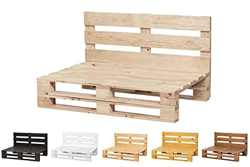Sofa DE PALETS Lijado Y Cepillado - Interior/Exterior Nuevo Sillon PALETS/Sofa para Patio (120cm X 80cm, Acabado Crudo)