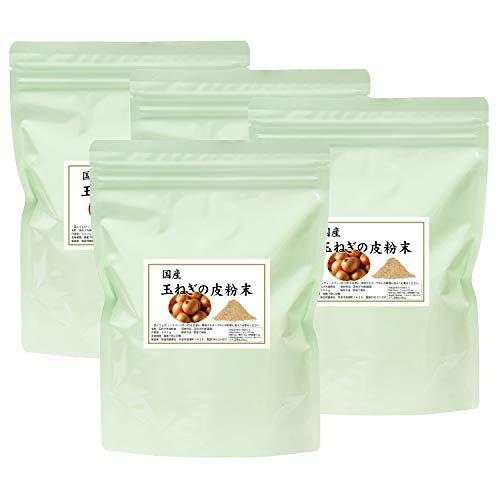 自然健康社 国産・玉ねぎの皮粉末 300g×4個 チャック付アルミ袋入り