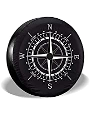 Kompas-kompas zonnewijzer Zwarte reservewielhoes Waterdicht stofdicht UV-zonnewielbandhoes