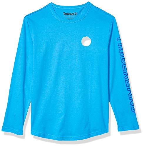 Timberland Jungen Long Sleeve Heathered Jersey Knit Tee Shirt Hemd, blaugrün, Groß