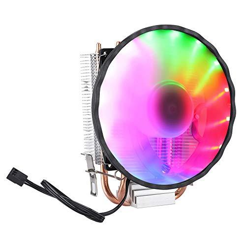 Vbestlife1 Ventilador de enfriamiento, Disipación de Calor rápida y silenciosa Fuerza de Viento Fuerte, Tubo de Calor en Forma de U con 2 Tubos, Ventilador de enfriamiento de Aire de luz mágica