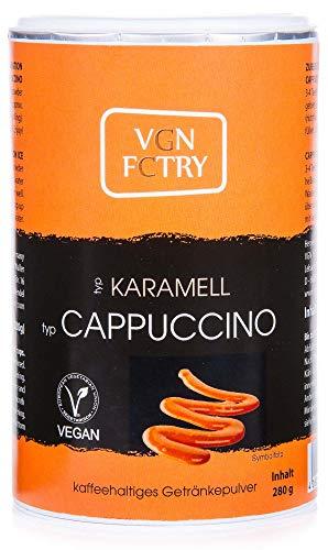 VGN FCTRY - Instant Kaffee - Typ: pflanzliche Cappuccino Alternative Karamell - 280g - vegan sojafrei glutenfrei