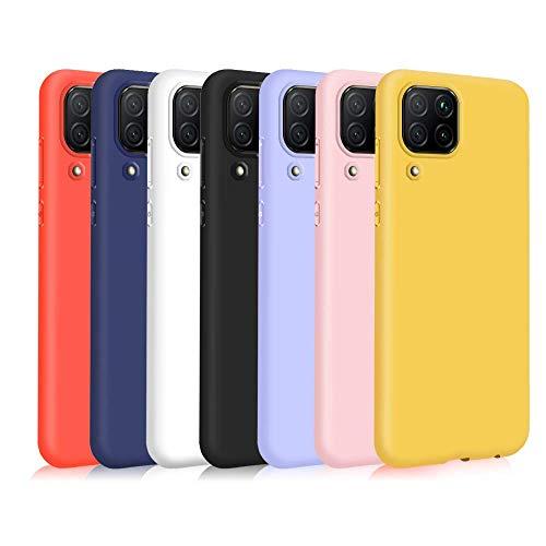 TVVT 7X Funda para Huawei P40 Lite, Ultra Delgado Color Carcasa Premium Ultraligero Suave Silicona TPU Protectora Espalda Case Cover Anti-Rasguños Anti-Choque - Siete Colores