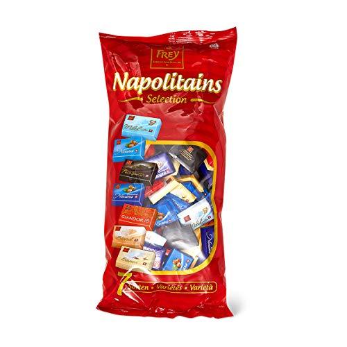 Frey 1kg Napolitains Selection - Schokolade Mischbeutel - Mini Schokoladentafeln aus 7 Sorten - Schweizer Mini Schokoladen Tafeln - Großpackung 1x 1000 g - UTZ-zertifiziert