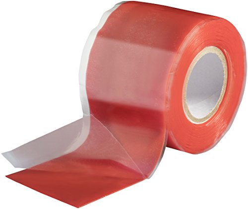Poppstar 1x 3m selbstverschweißendes Silikonband, Silikon Tape Reparaturband, Isolierband und Dichtungsband (Wasser, Luft), 38mm breit, rot