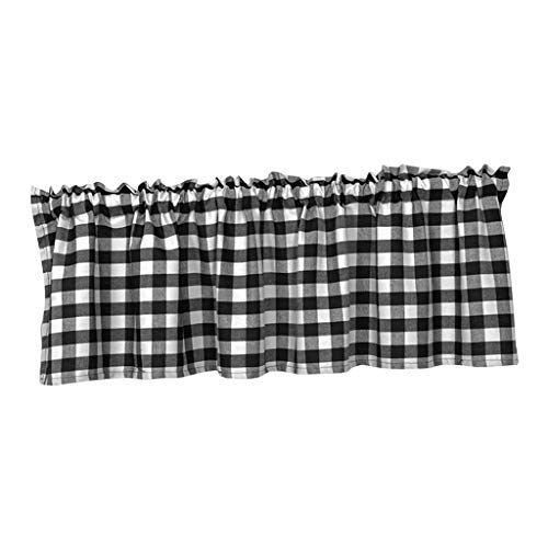 LOVIVER Fenster Tiers Vorhänge Schabracken für Küche Gitter, Top Tasche Halben Vorhang Tier für Kinderzimmer Schlafzimmer - 137x61cm 1 Panle