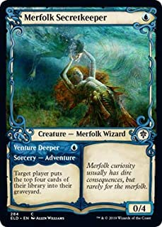 Magic: The Gathering - Merfolk Secretkeeper - Showcase - Throne of Eldraine