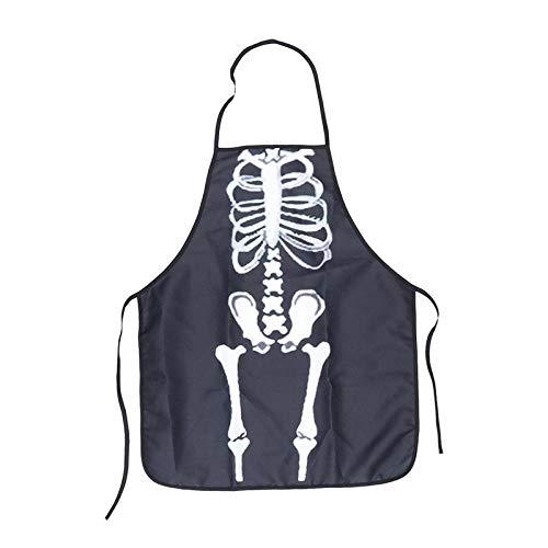 JJFU Kookschort 1 stuk Scary Halloween kleren schort keukenaccessoire kok schort voor kostuum carnaval party cosplay