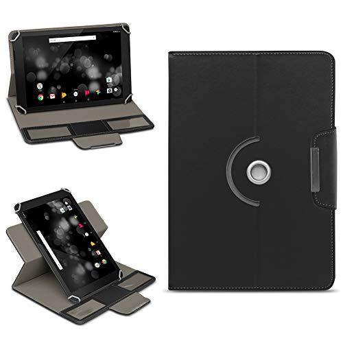 NAmobile Archos 101 Platinum 3G Tasche Hülle Schutzhülle Tablet 360° Drehbar Case Cover, Farben:Schwarz