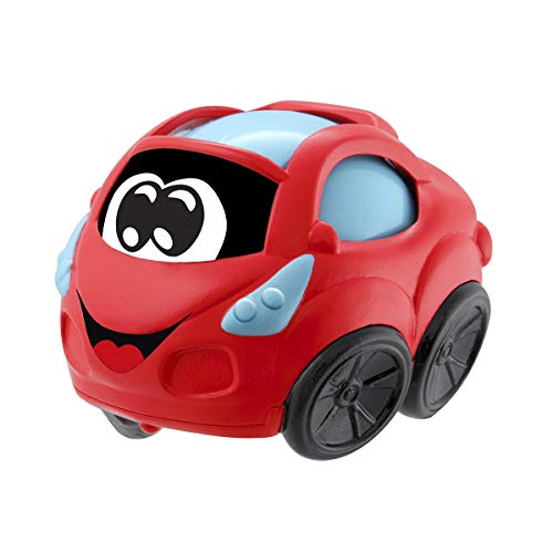 Chicco Turbo Ball - Coche de juguete especial bebés, con bola en interior, color rojo