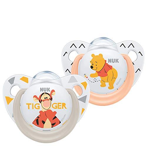 NUK Trendline Winnie the Pooh Succettes, 6-18 mesi, BPA Free, Set di 2 - Modelli assortiti