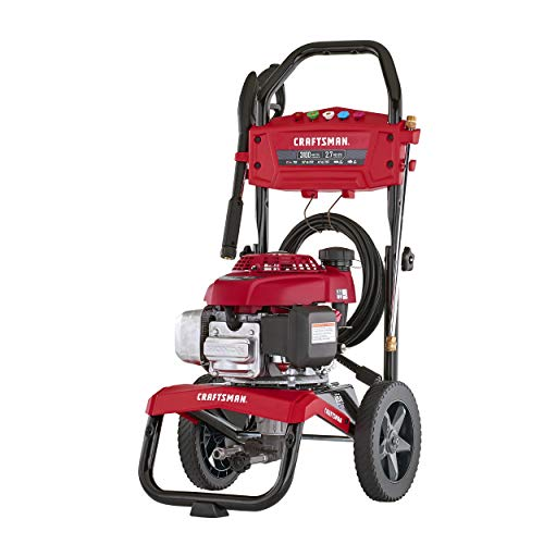 CRAFTSMAN 3100 MAX PSI at 2.4 GPM Gas Pressure Washer with Second Story Kit, 25-Foot Hose, and 5 Quick-Connect Nozzles, Powered by HONDA