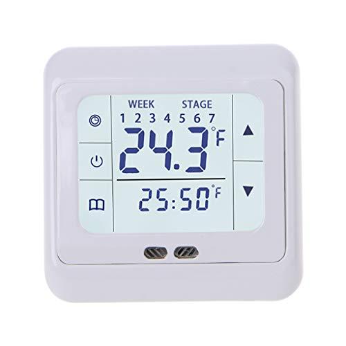 NIANNIAN Thermometer Thermoregulator Touchscreen-Heizthermostat Für Warmen Boden, Temperaturregler Für Elektrisches Heizsystem Mit Kindersicherung