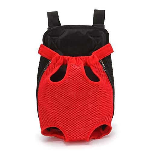 WangWLT Bolsas para mascotas, mochilas para gatos y perros, portadores de mascotas para perros pequeños, piernas casuales de malla para viajes XL rojo