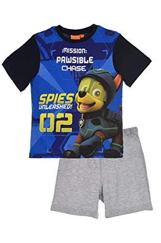 Nickelodeon Paw Patrol Jungen Pyjama Kurzarm Schlafanzug (Blau, Größe 116)