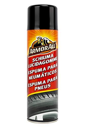 Armor All AA47500SPI Espuma Neumáticos, 500 ml Limpia, da Brillo y Protege. No daña la llanta ni el tapacubos