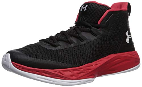 Under Armour Men's Jet Mid Basketball Shoe, Black (004)/Red, 12.5 M US