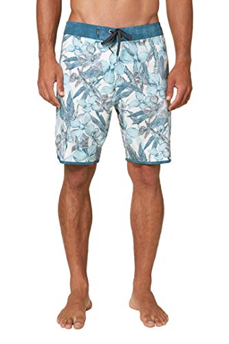 O'NEILL Men's Water Resistant Hyperfreak Stretch Swim Boardshort, 19 Inch Outseam