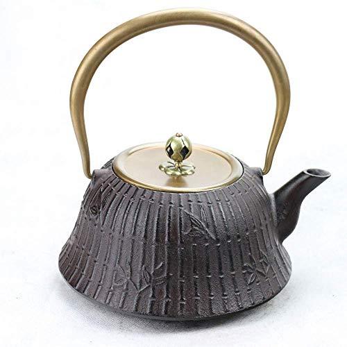 LZZ Teapot tool Tea Set Exotic Teapots,Cast Iron Iron South Japan Cast Iron Pot Bamboo Forest Cast Iron Pot Kettle Tea Set 1.2L Present Gifts,Tea Set