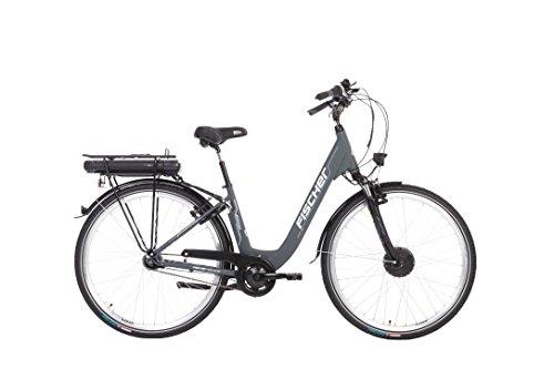 Fischer E-Bike City ECU 1801 (2018), anthrazit, 28 Zoll, RH 44 cm, Frontmotor 25 Nm, 36 V Akku