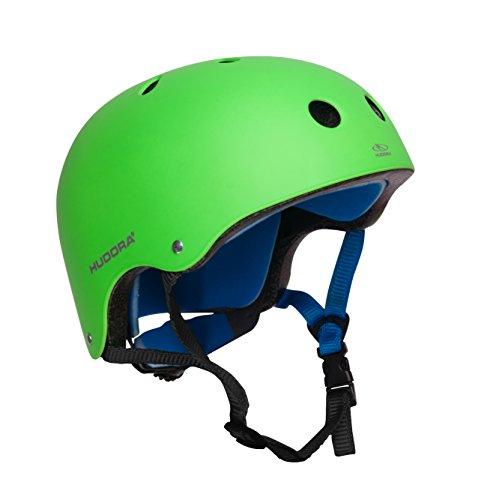 HUDORA 84109 - Skateboard-Helm, Scooter-Helm grün, Gr. 56-60, Skate Helm, Fahrrad-Helm