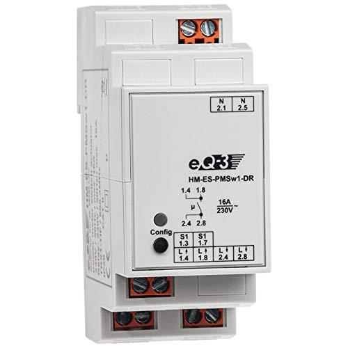 103863 ELV Homematic Komplettbausatz Hutschienen-Schaltaktor mit Leistungsmessung HM-ES-PMSw1-DR