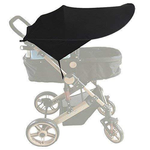 ALIXIN-Funda para cochecito de bebé, toldo de carro de bebé,protector solar. (Negro)