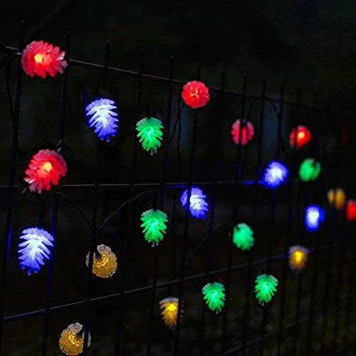 Volar Cubierta secuencia solar luces LED de cuerda decorativa cadena luces al aire libre del cono del pino de luz Forma 5 Modos blanco caliente de la fiesta de jardín Inicio decoración del festival pr